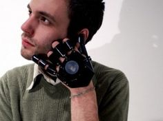 A real working cell phone that is hand activated!