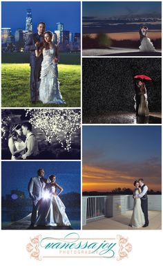 Always save time for nighttime or twilight wedding photos! They're always a favorite and will look great in the album or decorating your new home.