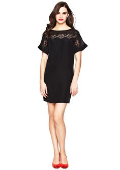 JESSICA SIMPSON Lace Detail Shift Dress