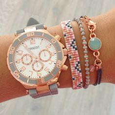 Watch 'Light Grey' & Bracelets - Mint15 ✦ www.mint15.nl