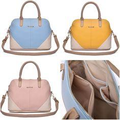 New Ladies Handbag Colourblock Bowling Design Shoulder Bag   eBay