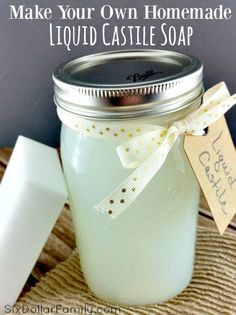 Castile soap can be so expensive, but I've found a FANTASTIC money saving hack for saving on it! How? I make it homemade! This homemade Castile soap recipe makes a liquid soap that is just as high qualuty as the super expensive stuff for pennies on the dollar!