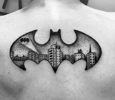 The Dark Knight. We have got all the batman fans covered with another Dark Knight tattoo.