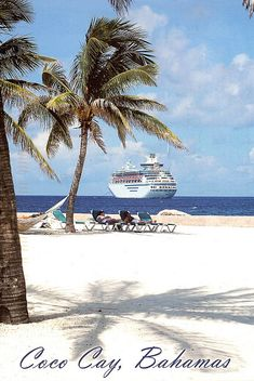 Bahamas - Coco Cay, beach // can't wait to go here.
