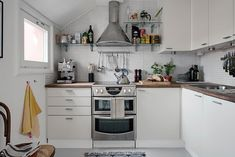 Duplex in Sweden Proves That Small Can Feel Spacious - http://freshome.com/small-but-spacious-duplex-in-sweden/