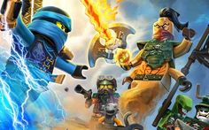 Download wallpapers The LEGO Ninjago Movie, 2018, Sensei Wu, Lloyd Garmadon, Kai, Cole