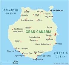Gran Canaria map, Canary Islands. #Canarias