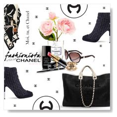 """""""Chanel, Never Boring..."""" by desert-belle ❤ liked on Polyvore featuring Chanel, women's clothing, women's fashion, women, female, woman, misses, juniors, polyvoreeditorial and totebags"""