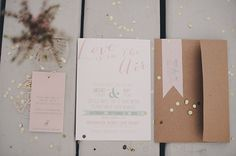 Mint & pink coastal Canadian wedding   Photo by Rebecca Amber Photography   Read more - http://www.100layercake.com/blog/?p=68838