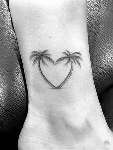Heart-Shaped palms by daniel winter tree heart tattoo, palm tree tattoo ankle, Hawaiianisches Tattoo, Paar Tattoo, Herz Tattoo, Piercing Tattoo, Body Art Tattoos, Sleeve Tattoos, Girl Tattoos, Piercings, Shape Tattoo
