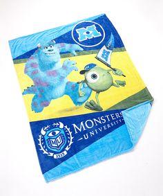 Look at this #zulilyfind! Monsters U Twin Blanket by Monsters University #zulilyfinds
