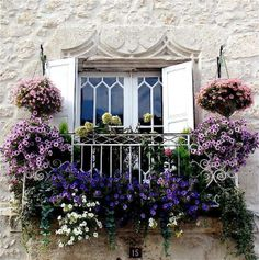 window in France- have window glass panes like this with a recycled wrought iron gate panels