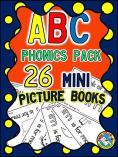ABC PHONICS EMERGENT READER PACK-26 MINI ALPHABET PICTURE BOOKS This pack includes a mini book for each letter of the alphabet!!! These photocopy friendly books are super easy to prepare. You only need to print the document and cut each page in half.