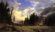 Albert Bierstadt - The Morteratsch Glacier Upper Engadine Valley Pontresina