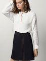 FALDA PESPUNTES DENIM - Autumn Breeze - WOMEN - España - Massimo Dutti Autumn, Skirts, Stuff To Buy, Women, Fashion, Fall Collections, Stylish Kids, Fall Season, Moda