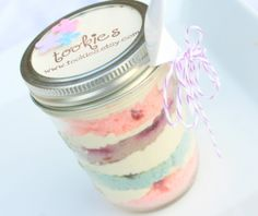 You can bake cakes in mason jars and give them away as party favors or gifts. These cake jars are also grea...