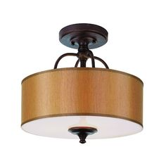 Modern Meets Traditional Rubbed Oil Bronze Three-Light Semi Flush Mount