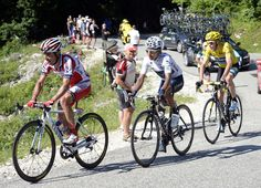 Podium Contenders on the last mountain in 2013 Tour de France