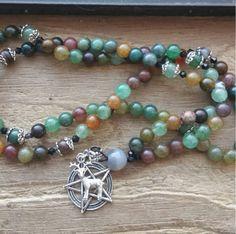 Magickal Stag, magick mala, magick prayer beads, magick rosary, totem mala, totem prayer beads, totem rosary, pagan mala, pagan prayer beads by MagickAlive on Etsy