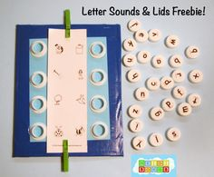 Matching the beginning sounds with the letters. Good for small group or abc center activities.