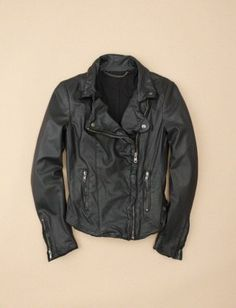 Muubaa leather biker jacket $620 - Supple, super-lightweight leather, minimal hardware and a slim fit—this London-based leathersmith's design is pretty much the motorcycle jacket of my dreams.