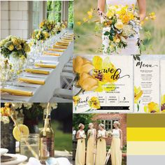 A beautiful oil painted yellow floral design.  Edit the sample text with your own wedding details