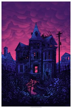 """…and sometimes you go to that place we do not know, and sometimes you come back, and sometimes you don't."" by Daniel Danger 24x36"" five color screenprint, print three of an ongoing series. 2015"