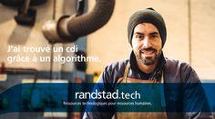 Aujourd'hui, à travers la technologie Randstad Bigdata, les plateformes Randstad Direct et Recrut'live, Randstad s'attache à faire évoluer la recherche d'emploi et toute la physionomie des ressources humaines. Pour les faire progresser. Hui, Live, Movie Posters, Fictional Characters, Job Search, Human Resources, Technology, Film Poster, Popcorn Posters