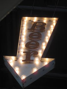 Large Lighted Arrow. Vintage Style Signage. Beer. by theshack, $475.00