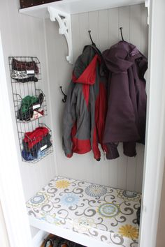 New Ideas Coat Closet Makeover Entryway Benches Bedroom Closet Doors, Bedroom Closet Storage, Entry Closet, Front Closet, Ikea Closet, Sliding Closet Doors, Bathroom Closet, Hall Closet, Front Hallway