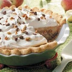 Taffy Apple Cheesecake Pie Recipe from Taste of Home -- shared by Leona Rothbauer of Bloomer, Wisconsin