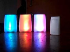 For people who have severe hearing impairments or deafness, there are wireless, lighted doorbell receivers that can be put anywhere in the home like one in the living room, one in the master bedroom, & one in the kitchen. This enables the person to be alerted if someone is at the door; the colors are super cool!