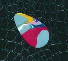 Vintage Mosaic small teardrop guitar pick (pick d) #GuitarPick