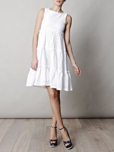 See By Chloé Broderie Anglaise Dress in White - Lyst