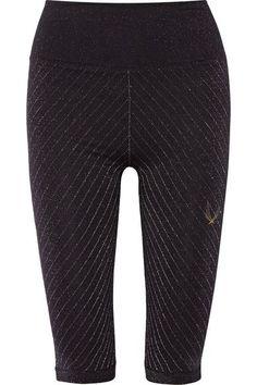 Lucas Hugh - Technical Knit Stardust Metallic Stretch Leggings - Black - x small