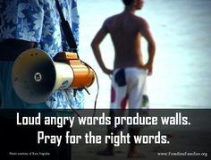 Words can produce walls...