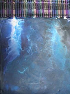 crayon art that goes beyond the typical dripping down the page