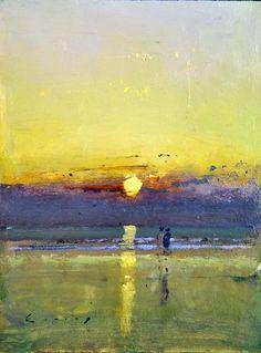 Fred Cuming - Dawn Beach #painting
