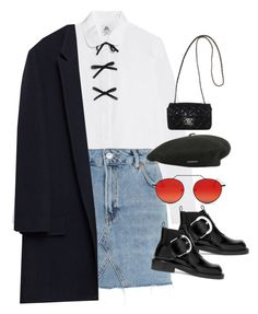 """Sem título #1543"" by oh-its-anna ❤ liked on Polyvore featuring J.Crew, Topshop, Zara, Maison Margiela, Chanel, kangol and Illesteva"