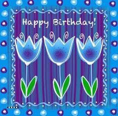 Happy Birthday - by Adriana Art - HS Birthday Wishes For Kids, Birthday Clips, Happy Birthday Video, Happy Birthday Flower, Happy Birthday Girls, Birthday Posts, Happy Birthday Pictures, Birthday Blessings, Happy Birthday Messages