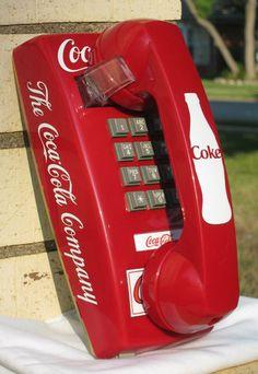 Red Coke Wall Phone