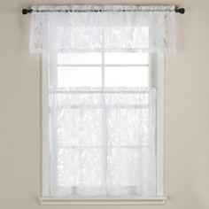Carina Burnout Window Curtain Tier Pairs - BedBathandBeyond.com