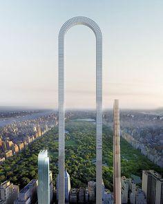 El horizonte de Manhattan está a punto de cambiar. Se han revelado los planes para construir el primer rascacielos en forma de U en la ciudad de Nueva York, y va más allá de los límites de la arquitectura.