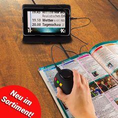 Neu im Shop: Mit der digitalen Leselupe Digiphot kannst du garantiert auch die kleinsten Texte wieder problemlos lesen! Eine bis zu 60-fache Vergrößerung und ein 7-Zoll-Display machen es möglich. Am Fernseher angeschlossen sind Texte sogar in 500-facher Vergrößerung darstellbar!