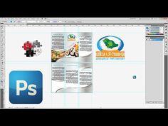 شرح كيفية تصميم مطوية برشور 3 ريجة بالاليستريتور والفوتوشوب brochure des...