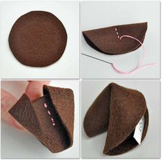How to Make a felt fortune cookie - easy sewing activitity for children