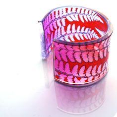 red pink fade fern cuff
