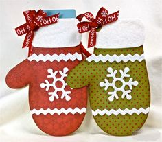 Red & Green Polka Dot and Snowflakes Christmas Mitten Gift Card Holders Christmas Gift Card Holders, Simple Christmas Cards, Gift Card Boxes, Christmas Tag, Xmas Cards, Christmas Crafts, Christmas Ideas, Christmas Decorations, Card Making Inspiration