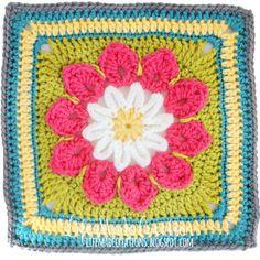 granny blanket : 2 squares week 37