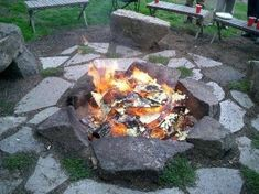 Inground Fire Pit..... maybe this is a good option for the corner of our yard where the grass just wont grow!